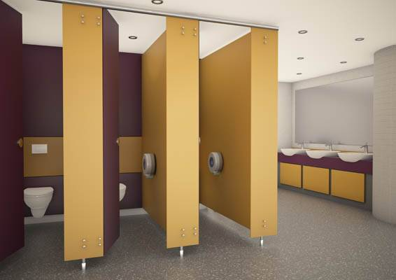 3d render of express cubicles yellow