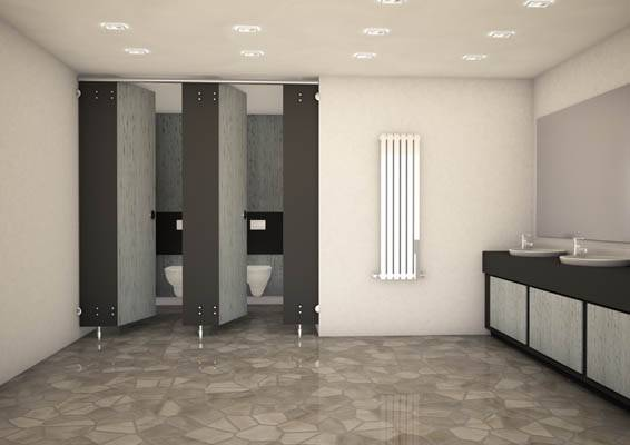 3d render of express cubicles grey