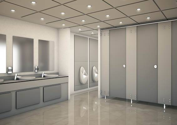 3d render of large sprint cubicles and panels layout